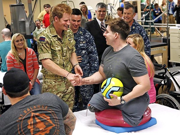 Prince Harry Visit Walter Reed National Military Medical Center