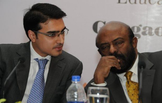 Mr Shiv Nadar with HCL Board Member and Director Mr. Shikhar Malhotra