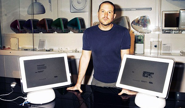 Jonathan Ive with His Personal Designs