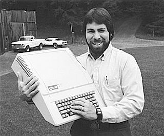 Steve Wozniak with Apple Computer