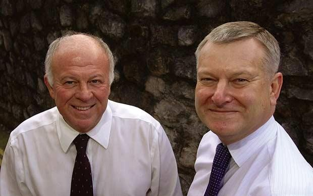 Peter Hargreaves and Stephen Lansdown (right) Founder of Hargreaves Lansdown