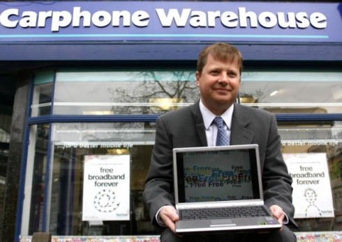 Charles Dunstone, Co-founder and Chairman of Carphone Warehouse