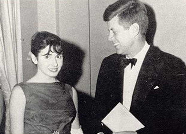 Young Nancy Pelosi with President Kennedy
