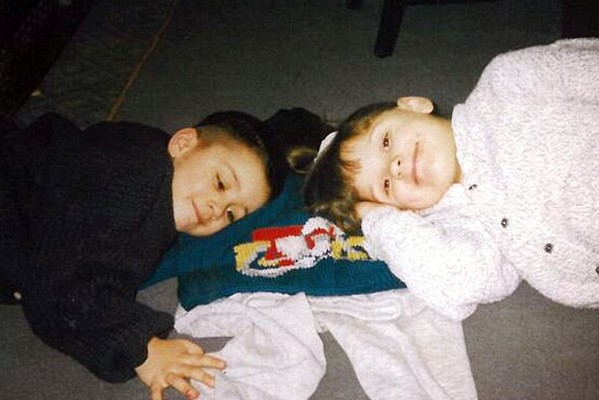 Child Zayn Malik With His Sister