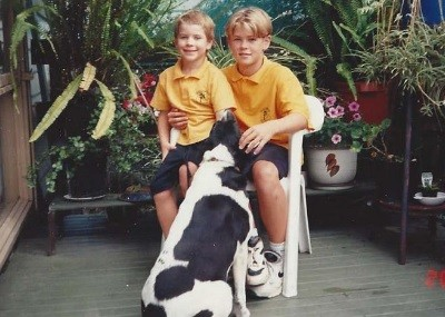 Little Liam with his brother Chris Hemsworth