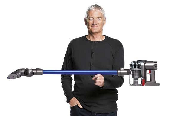 James Dyson with his  Cordless Vacuum Cleaner