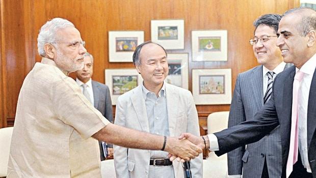 Sunil Mittal with Indian Prime Minister Narendra Modi