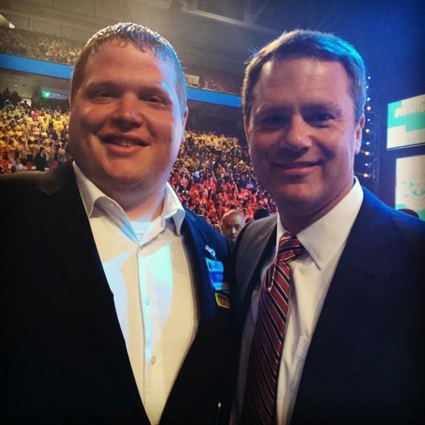 Doug McMillon with Ryan Pollock