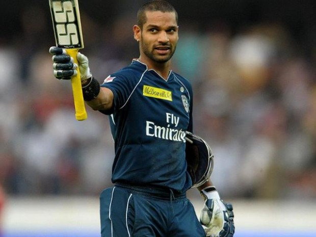 Shikhar Dhawan in an IPL Match
