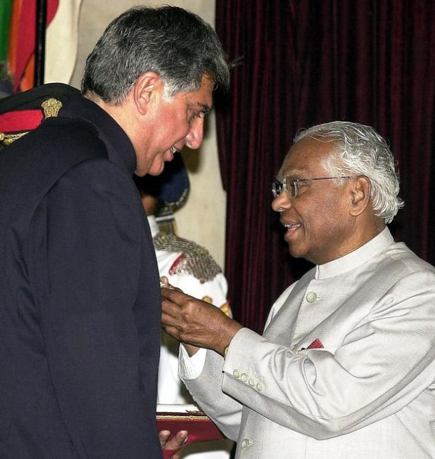 Ratan Tata Receiving Padma Bhushan Award