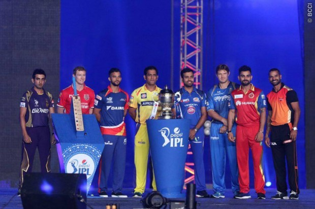 Kohli with Other IPL Team Captains