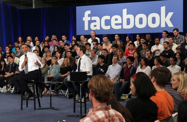 Obama Speaking Alongside with Mark at Facebook Head Quarters