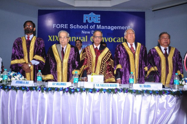 Narayana Murthy at Annual Convocation of FORE School of Management