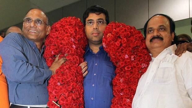 Vishy in Chennai After won the World Chess Championship