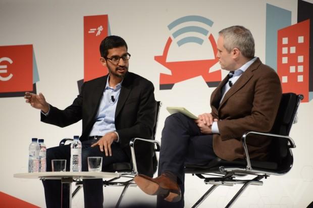 Sundar Pichai at Mobile World Congress