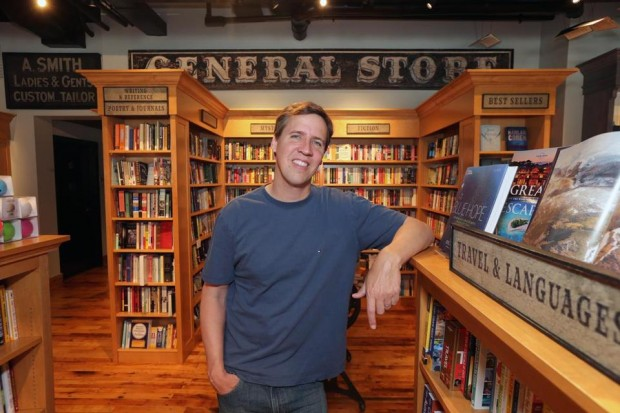 Jeff in His Own Book Store