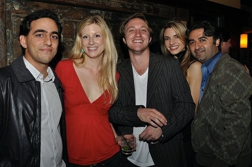 Salar Kamangar, Elyssa Cahill Douroux, Chad Hurley and Marisa Avansino at Youtube Live After Party