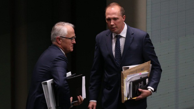 Peter Dutton With Malcolm Turnbull