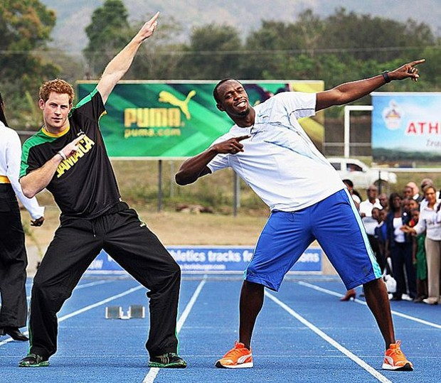 Prince Harry With Usain Bolt