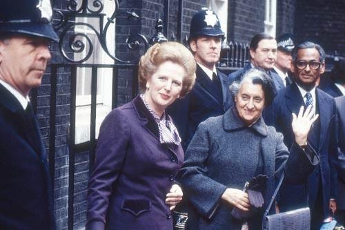 Indira Gandhi with Margaret Thatcher