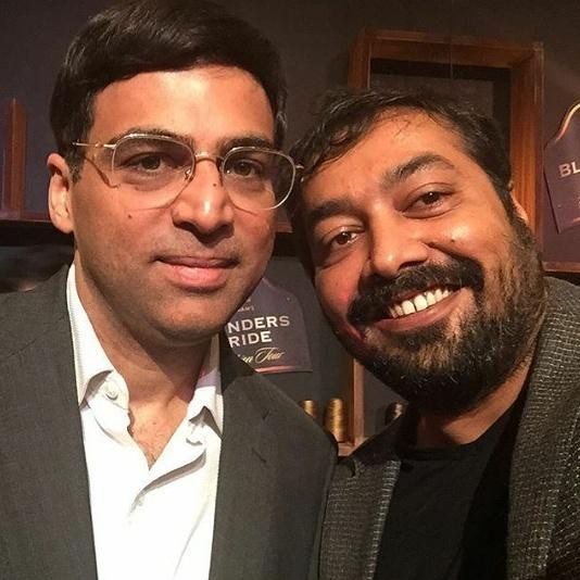 Vishy Anand With Anurag Kashyap