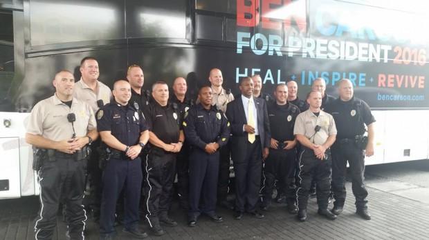 Ben Carson with Greensboro Cops
