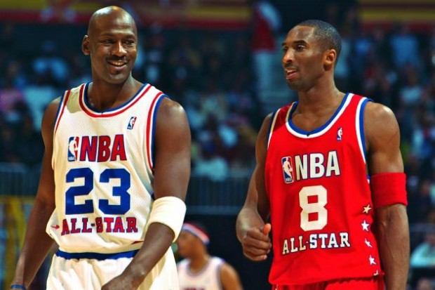 Kobe with Michael Jordan at NBA All Star Game