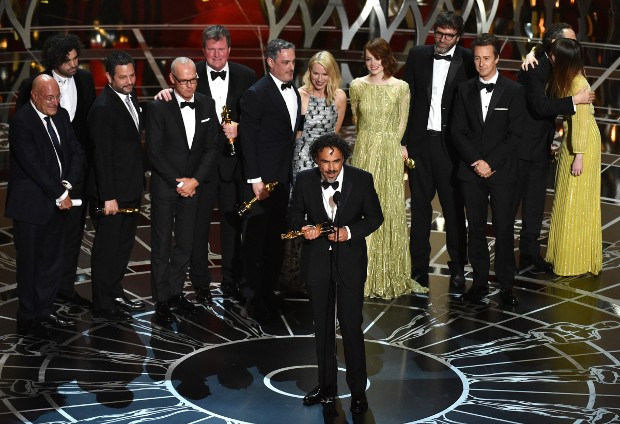 Alejandro González Iñárritu Giving Speech At Oscar's