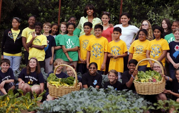 Michelle Obama With White House Visitors