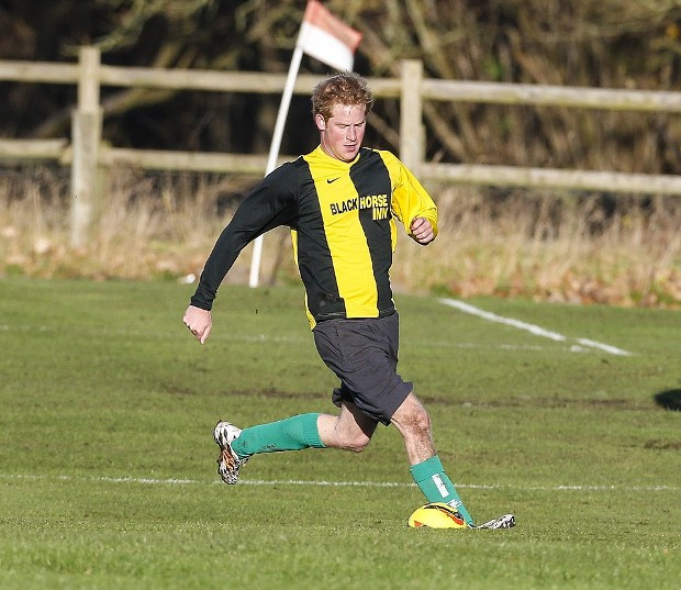 Prince Harry Playing Football Game