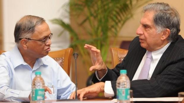 Ratan Tata with Infosys Founder NR Narayana Murthy