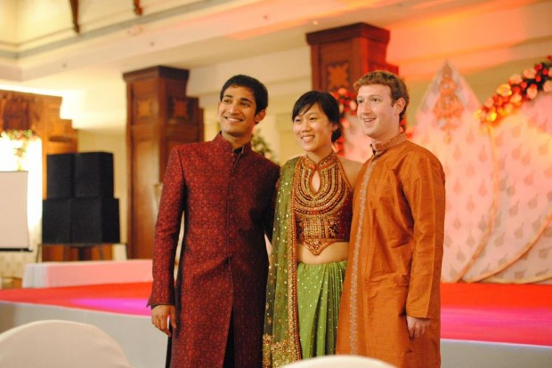 Mark Zuckerberg in Indian Traditional Dress at a Wedding in India