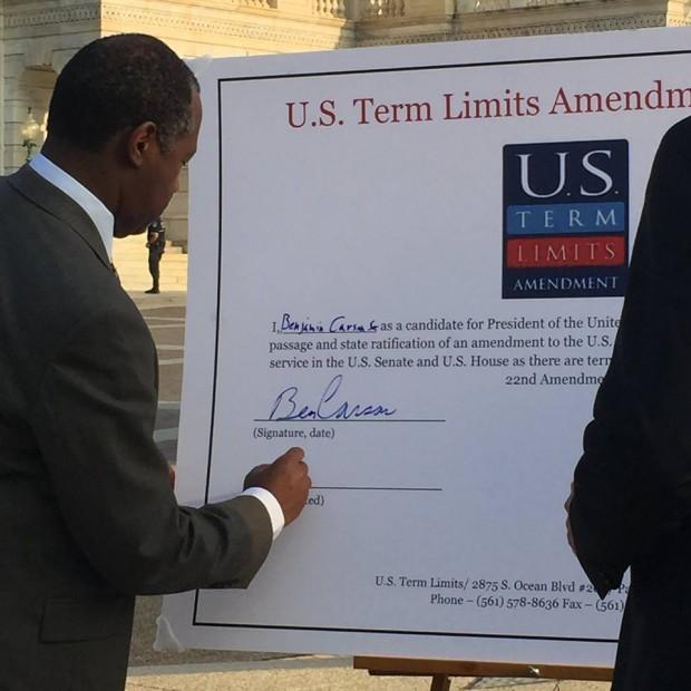 Ben Carson Signing US Term Limits Amendment Pledge