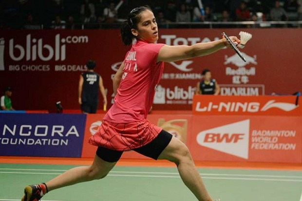 Saina Nehwal at Badminton World Championship Match