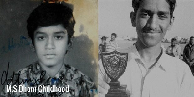Dhoni in His Childhood