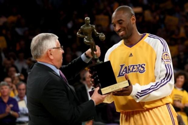 Kobe Receiving MVP Award