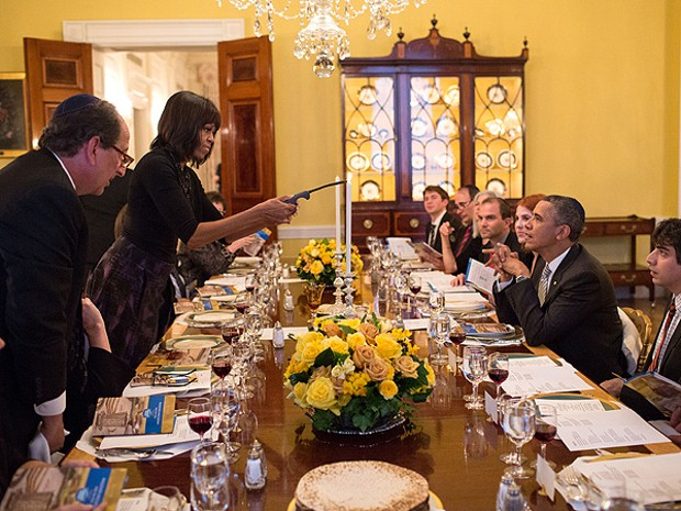 Michelle Obama In White House Dining Room