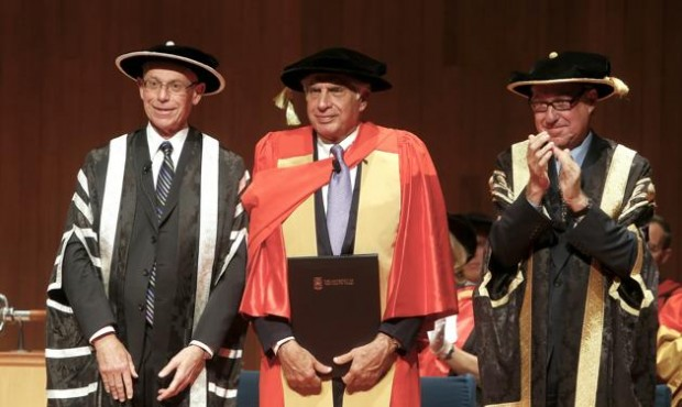 Ratan Tata Flanked by University on New South Wales