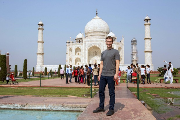 Mark Zuckerberg at The Taj Mahal