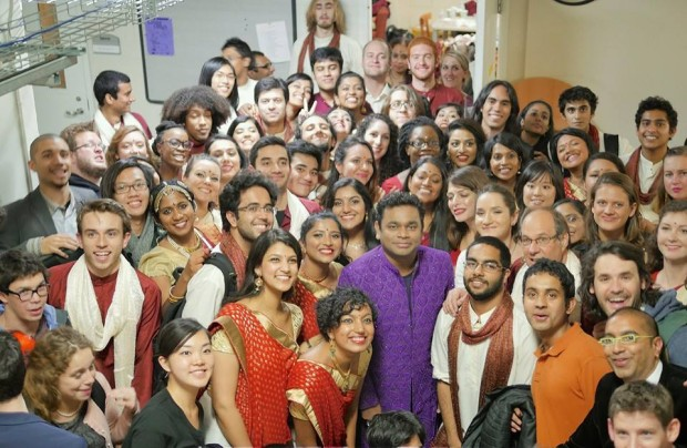 AR Rahman with Berklee College of Music Students
