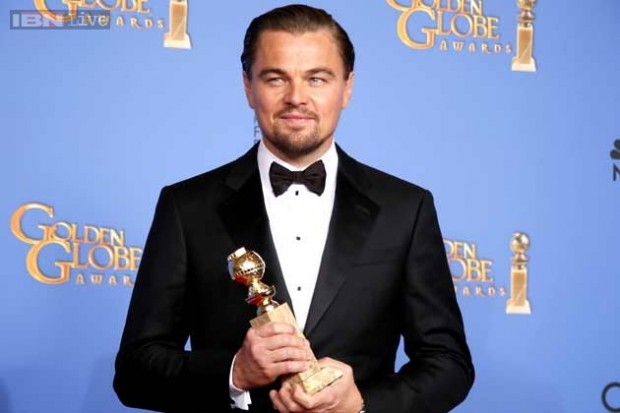 Leonardo DiCaprio Got Golden Globe Award for 'The Wolf of Wall Street'