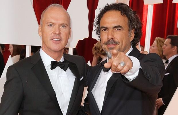 Alejandro González Iñárritu With Michael Keaton