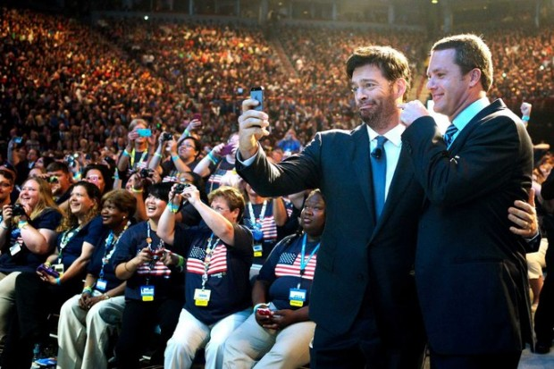 Harry Connick Jr. taking Selfie with Doug McMillon