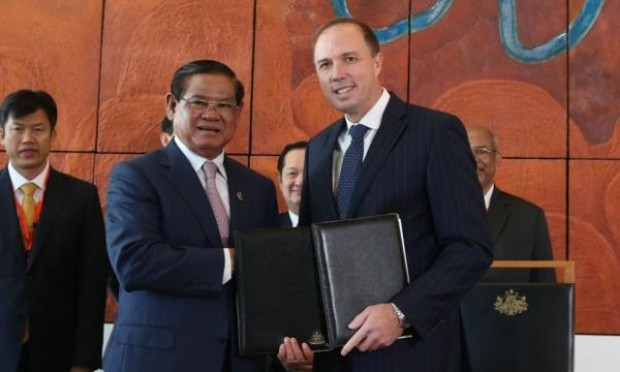 Peter Dutton With Sar Kheng