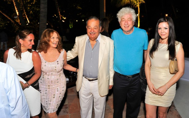 Carlos Slim Sylvester Stallone and His Family Are Guests of Honor at A Dinner