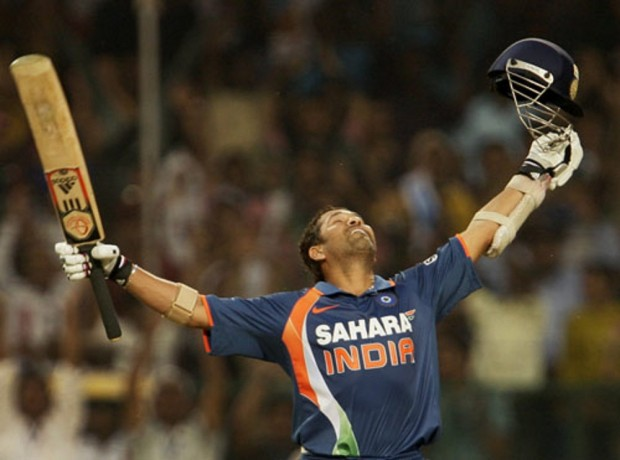 Sachin after His ODI Double Century and He is the First Ever Person to do that in ODIs