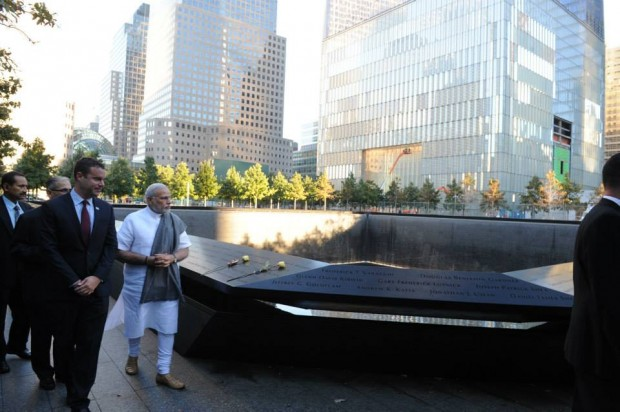 Modi at 9/11 Memorial