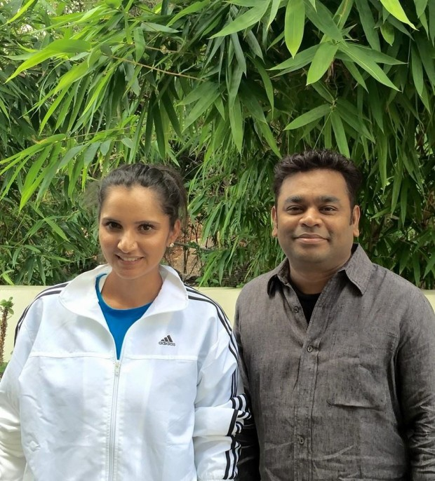 AR Rahman with Indian Tennis Player Sania Mirza