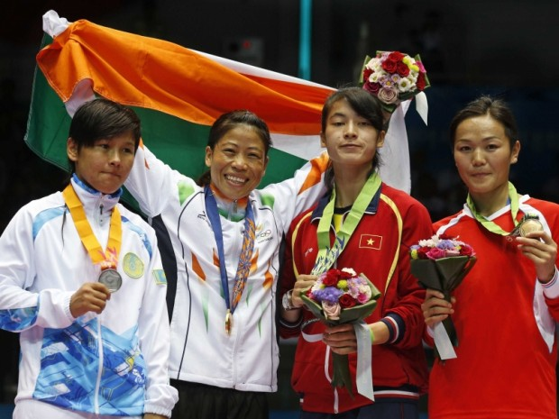 Mary Kom Winning Gold Medal