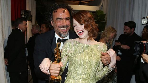 Alejandro González Iñárritu With Emma Stone